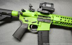 Spikes Tactical Zombie Green Cerakote AR-15 AR15 : Semi Auto Rifles at GunBroker.com