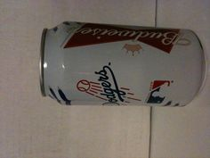Limited Edition Budweiser 2012 beer Can. Los Angeles Dodgers.