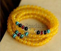 #jewelry#pulsera de ágata amarilla http://www.beads.us/es/producto/Agata-amarilla-pulsera-de-multiples-capas_p78550.html
