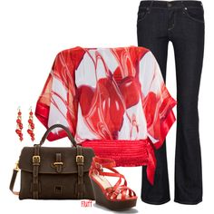 poppy by fluffof5 on Polyvore featuring Citizens of Humanity, Dooney & Bourke and MINU Jewels