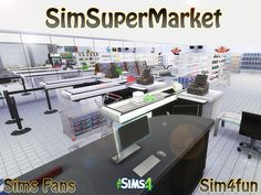 SimSuperMarket by Sim4fun at Sims Fans via Sims 4 Updates
