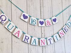 Excited to share the latest addition to my shop: Quarantine Birthday Banner - Sweet 16 Birthday - Birthday in Quarantine- Quarantined Party - Virus Banner - Quarantine Banner -Virtual Party Teen Party Games, Sleepover Party, Sweet 16 Birthday, 50th Birthday, Birthday Ideas, 16th Birthday Decorations, Bumble Bee Birthday, Birthday Girl Pictures, Sleepover Activities