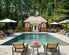 POOL HOUSE – Start collecting design ideas for the future pool house. This one can work. Interior Design Ideas: Paint Color