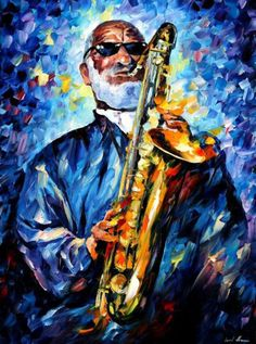 Painting - Sonny Rollins - Palette Knife Oil Painting On Canvas By Leonid Afremov by Leonid Afremov , Unique Paintings, Beautiful Paintings, Oil Painting On Canvas, Diy Painting, Jazz Painting, Tiger Painting, Sonny Rollins, Jazz Art, Oil Painting Reproductions