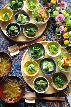 じわじわ秋気分の小鉢料理。一汁七菜。 の画像 西野椰季子のマクロビオティックレシピ