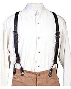 1920s Mens Clothing t Leather Suspenders $41.08 AT vintagedancer.com
