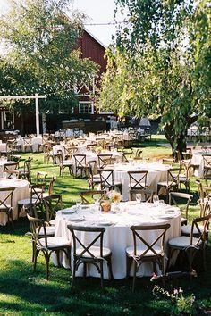 A #rustic outdoor wedding reception   @iamchristianne   Brides.com