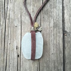Authentic Soft White Sea glass necklace on by SirenaHome on Etsy
