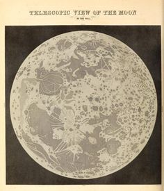 Telescopic view of the Moon at the full. The wonders of the heavens, being a popular view of astronomy, including a full illustration of the mechanism of the heavens. 1837.