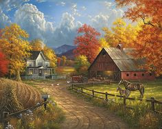 Country Blessings - 1000 Piece Puzzle-White Mountain Puzzles
