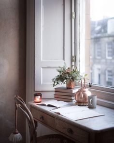 Those times when everything rushes by at a speed that seems impossible to keep up with. With a thousand things to do and not enough hours… Georgian Townhouse, Writing Table, Coffee And Books, Slow Living, Keep Up, Enough Is Enough, Everything, Things To Do, Cottage