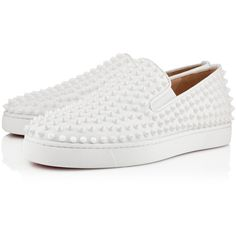 Christian Louboutin Roller-Boat Men's Flat (4 665 PLN) ❤ liked on Polyvore featuring men's fashion, men's shoes, shoes, men, white, mens leather shoes, mens white shoes, mens white leather shoes, mens shoes and christian louboutin mens shoes