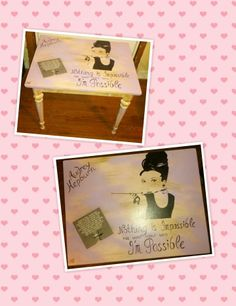 ~ Audrey H. ~ Re-Vamped Vintage Artistic Area Table ... https://www.facebook.com/Artsy.Me.by.L.Marie