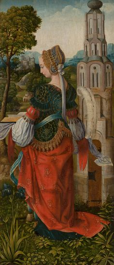 St Barbara | 1520 - 1510 | Mauritshuis | Public Domain Marked