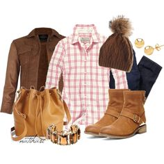 """Countryside Fall School Outfit"" by natihasi on Polyvore"