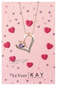 Valentine/'s Day Love Gift Heart Necklace 1//15 ct tw Diamonds 10K Rose Gold Plated