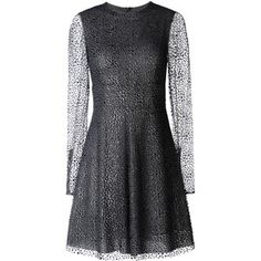 Redvalentino Glitter And Flock Printed Tulle Dress