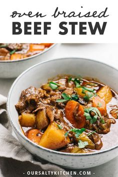 Dutch Oven Braised Beef Stew Paleo) - - This is hands down t. - My Pins - Beef Stroganoff Roast Recipes, Healthy Soup Recipes, Real Food Recipes, Oven Recipes, Kitchen Recipes, Dutch Oven Beef Stew, Braised Beef, Whole 30 Recipes, Soups And Stews