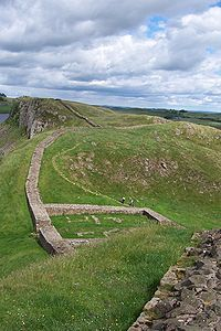 Hadrian's Wall Path -  is a long distance footpath in the north of England, which became the 15th National Trail in 2003. It runs for 135 km (84 mi), from Wallsend on the east coast of England to Bowness-on-Solway on the west coast.