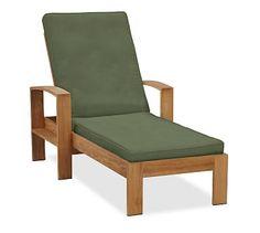 Madera Single Chaise Cushion, Sunbrella(R) Fern