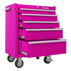 The Original Pink Box 26-inch 5 Drawer 18G Steel Rolling Pink Tool Cabinet  (apparently I really want this since I've pinned it two years in a row!)