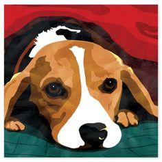 Beagle Canvas Wall Art
