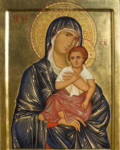 Fotografie Instagram de Dimitris Kartalis • 23 Decembrie 2019 la 07:27 Religious Images, Religious Art, Holy Mary, Mother And Child, Madonna, Mona Lisa, Children, Instagram Posts, Artwork