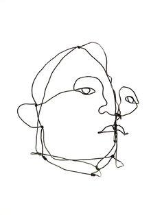 Alexander Calder wire portrait