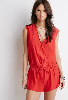 Sleeveless Surplice Romper | Forever 21 - 2000078209