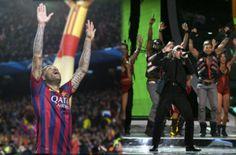 Dani Alves se inspira en un tema de Pitbull para el baile de su polémica celebración #FCBarcelona #Alves