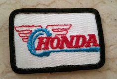 Awesome Honda 2017: 1970s Vintage Honda Patch Honda Motorcycle Embroidered Patch logo New Old Stock ...  The Harty Hoca! Check more at http://carsboard.pro/2017/2017/03/21/honda-2017-1970s-vintage-honda-patch-honda-motorcycle-embroidered-patch-logo-new-old-stock-the-harty-hoca/