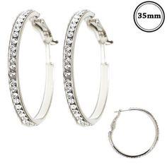 Crystal Hoop Earrings – A'Dena Accents