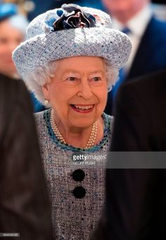 Britain's Queen Elizabeth II reacts as she attends the opening of the newly refurbished National Army Museum in central London on March 16, 2017.   / AFP PHOTO / POOL / Geoff Pugh        (Photo credit should read GEOFF PUGH/AFP/Getty Images)