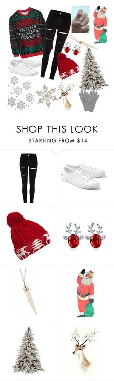 """""""merry christmas"""" by cassidy2928 ❤ liked on Polyvore featuring River Island, Lacoste, WithChic and L.K.Bennett"""