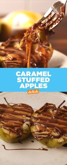 Forget caramel apples — STUFFED caramel apples is where it's at. Get the recipe at Delish.com.