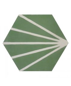 Hexagonal Graphic Green Cement Tiles