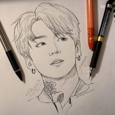 Jungkook Fanart, Bts Jungkook, Art Drawings Sketches Simple, Pencil Art Drawings, Drawing Lips, Bts Art, Kpop Drawings, Anime Sketch, Painting & Drawing