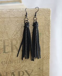 Hey, I found this really awesome Etsy listing at https://www.etsy.com/listing/115163166/tassel-earring-made-from-up-cycled