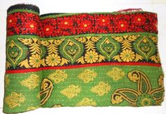Vintage Throw Kantha Quilt N Ethnic Ralli Quilt Reversible Gudri Bedspread bohemian Bedding Hand-stitched Tropical Quilt  from old Sarees by MatureSourcing on Etsy