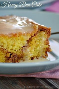 Do you remember Honey Buns from Hostess? Now you can have them anytime you want with this HONEY BUN CAKE.