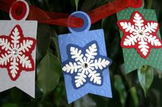 Cricut Christmas tags using the Creative Memories/Cricut Holiday Frames & Tags cartridge