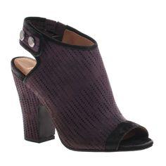 "NICOLE:Layla in Purple| JoliWorld. Layla: Ankle strap peep toe heaven. 3.35"" heel, fabric/leather upper, man-made lining, man-made sole, metal ornament."
