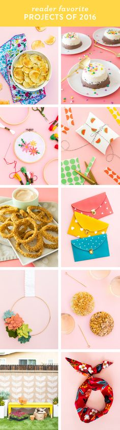 See what 10 recipes and DIY projects were reader favorites in by Sarah Hearts Diy Crafts For Home Decor, Easy Diy Crafts, Diy Craft Projects, Diy Crafts For Kids, Crafts To Sell, Craft Ideas, Diy School Supplies, Dollar Store Crafts, Diy Gifts