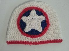 Captain America Superhero Shield Logo Inspired Beanie Hat Crochet Pattern » cRAfterchick - Free Crochet Patterns and Projects