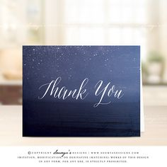 Thank-You-Card-Wedding-Starry-Night-Sky-Thank-You-Celestial-Thank-You-Beach-Thank-You-by-Soumya's-Designs
