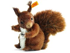 Steiff Possy Squirrel: Mohair Stuffed Animal
