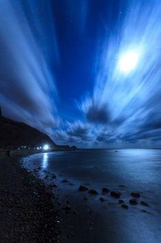 Shakotan Peninsula of the moonlit night. Looking for more information aboout Hokkaido? Go Visit Shakotan sightseeing web site.   http://www.kanko-shakotan.jp/