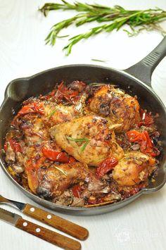 Рецепт Кролик, запеченный с горчицей и вялеными помидорами