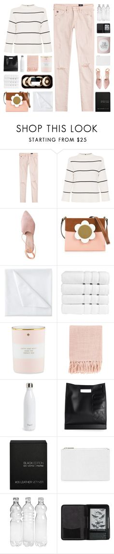 """""""Happy Birthday @is-msc & @ningaunis! """" by paradiselemonade ❤ liked on Polyvore featuring AG Adriano Goldschmied, L.K.Bennett, Summit, Orla Kiely, Liz Claiborne, Christy, Kate Spade, Surya, S'well and 3.1 Phillip Lim"""
