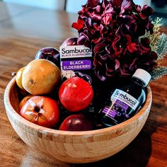 This holiday season, I'm giving the gift of immune support with a homemade immune-strengthening gift basket featuring Sambucol Black Elderberry Syrup. Join me in the SambuCrew Community and receive exclusive insider access to Sambucol® too! #HolidaysWithSambucol #SambucolPartner #SambucolMom #ImmuneSupport #Elderberry #Sambucol #Smiley360 #SuperSavingMoms #MomBlogger Sambucol Black Elderberry, Elderberry Syrup, Free Product Testing, Gift Baskets, Join, Community, Homemade, Fruit, Holiday